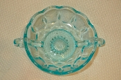 Blue Glass Candy Dish Two Handled Depression Light Blue Glass Candy Dish Two Handle is for sale