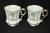 Pair of Touchstone Giftmakers 45 th Wedding Anniversary Cup Mug Glasses Gift Idea is for sale