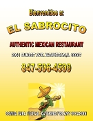 El Sabrocito Authentic Mexican Restaurant Full Menu Waukegan Carryout, Dine In Tacos, Burritos Best Mexican food Waukegan Zion Gurnee. One of the best restaurants in the Lake County area for real Authentic dishes!