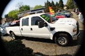 2008 Ford F250 White Crew 4x2 Diesel Truck sale Mount Prospect Illinois