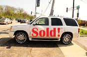 2003 Cadillac Escalade White TV Used SUV car sale Mount Prospect Illinois