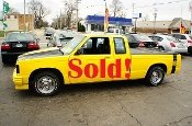 1985 Chevrolet S10 Super Bee Yellow Ext Cab sale used car by Auto Mix Car Sales Waukegan Illinois