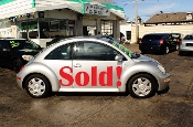 2001 Volkswagen Beetle Silver Used Car for sale by Auto Mix Car Sales Waukegan Illinois