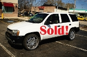 2003 Chevrolet Trailblazer LT 4Dr White SUV used car sale by Auto Mix Car Sales Waukegan Illinois