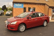 2014 Nissan Sentra SV Red Sedan used car sale NAC North American Credit auto sales Waukegan Illinois