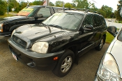 2003 Hyundai Santa Fe Black SUV Sale by Dodd's Auto Sale Beach Park Illinois