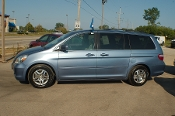 2006 Honda Odyssey Blue Used Mini Van Sale by Sortos used cars Waukegan auto trucker dealer