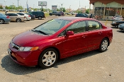 2007 Honda Civic Red Sedan Used Car Sale at Motor City Auto Sales