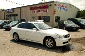 2006 Infiniti G35X White Navigation Sedan Used Car Sale at Motor City Auto Sales