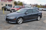 2004 Mazda 6 Gray Sedan Used Car Sale at Motor City Auto Sales of Waukegan