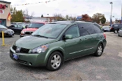 2004 Nissan Quest SE Green Mini Van Sale at Motor City Auto Sales of Waukegan