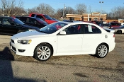 2009 Mitsubishi Lancer White Sedan Sale at Motor City Auto Sales