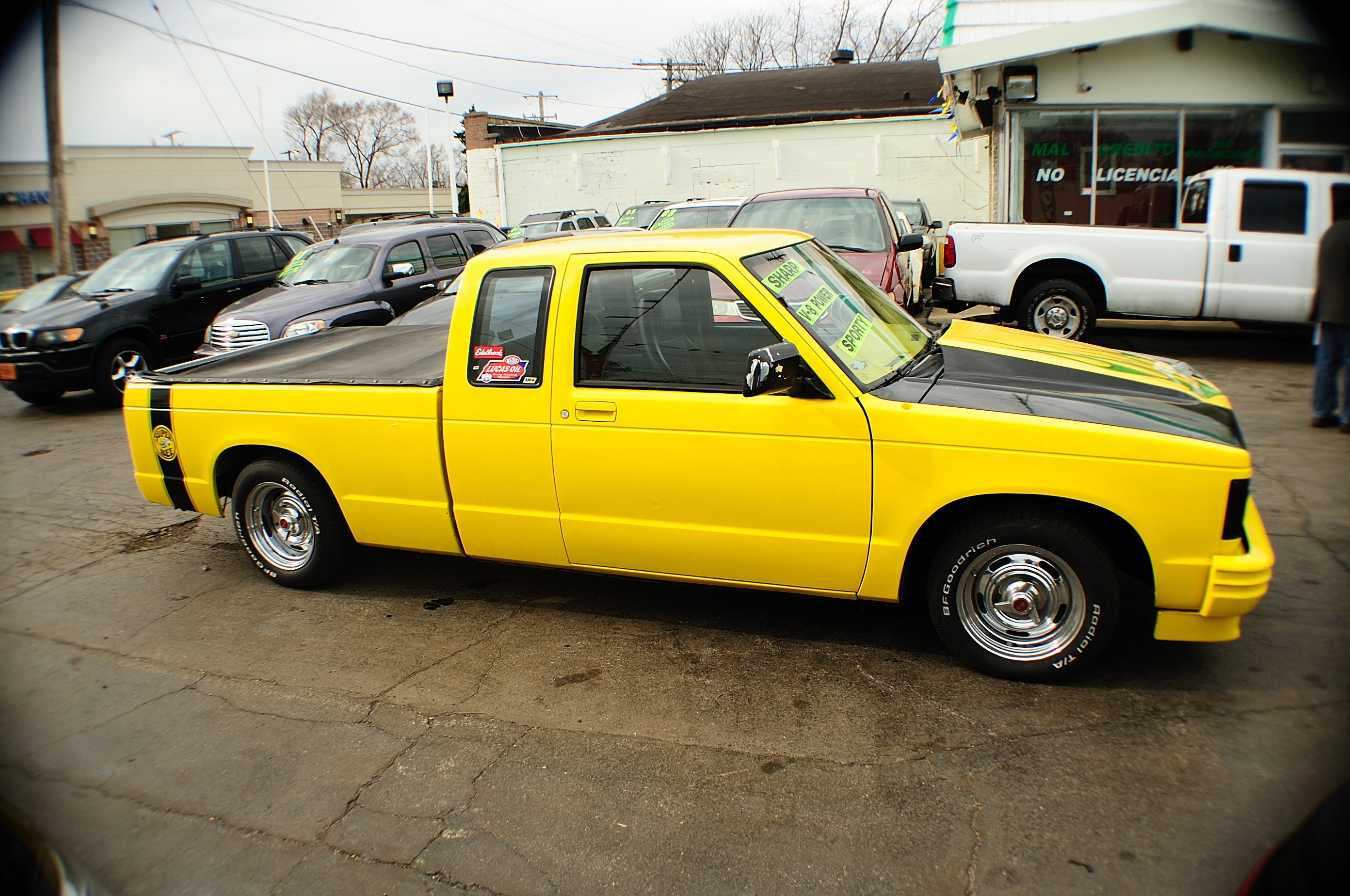 1985 Chevrolet S10 Super Bee Yellow Ext Cab