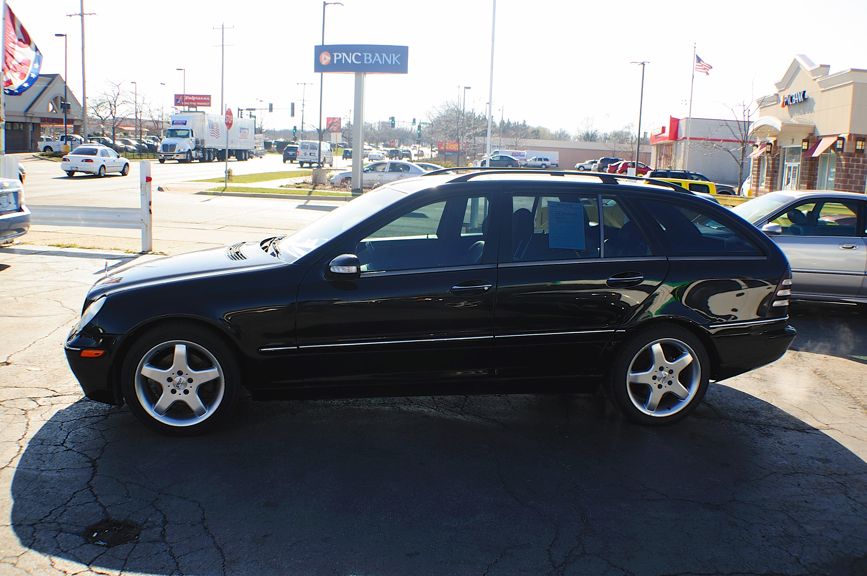 2002 Mercedes C320 Black 4Dr Wagon used car sale Barrington Beach Park Buffalo Grove