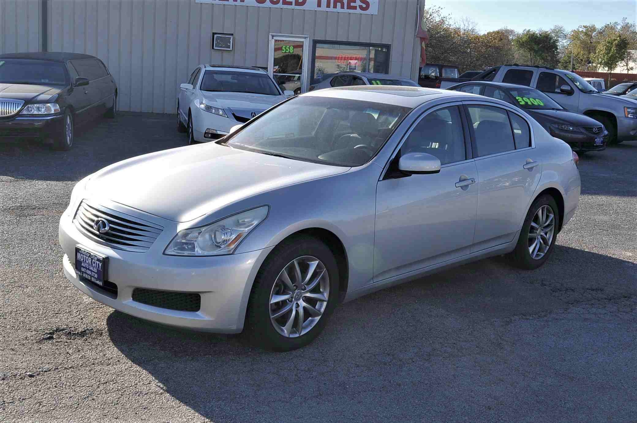 2008 Infiniti G35X Silver Navigation Sedan Used Car Sale