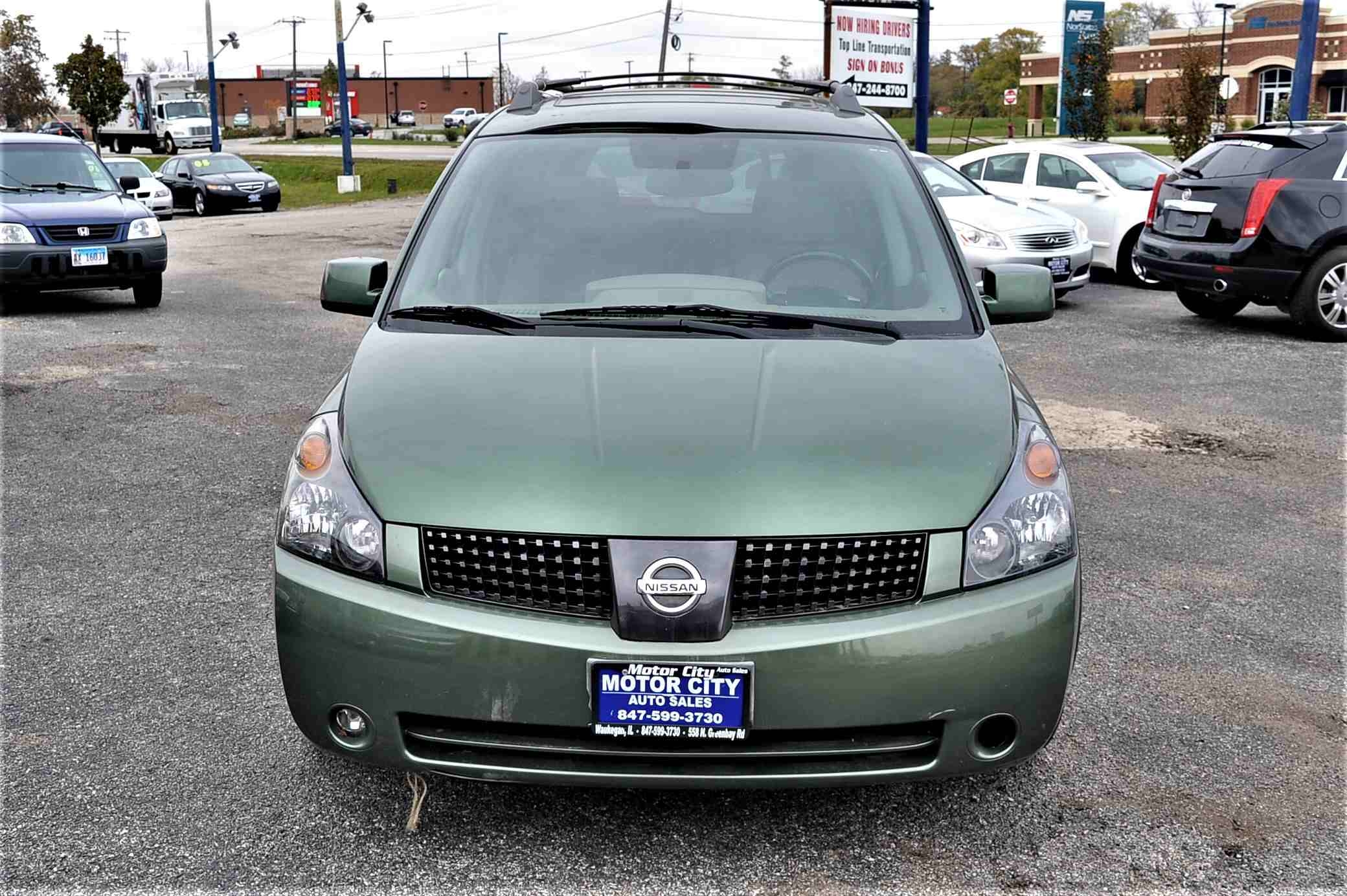 2004 Nissan Quest SE Green Used Minivan Sale Gurnee Kenosha Mchenry Chicago Illinois