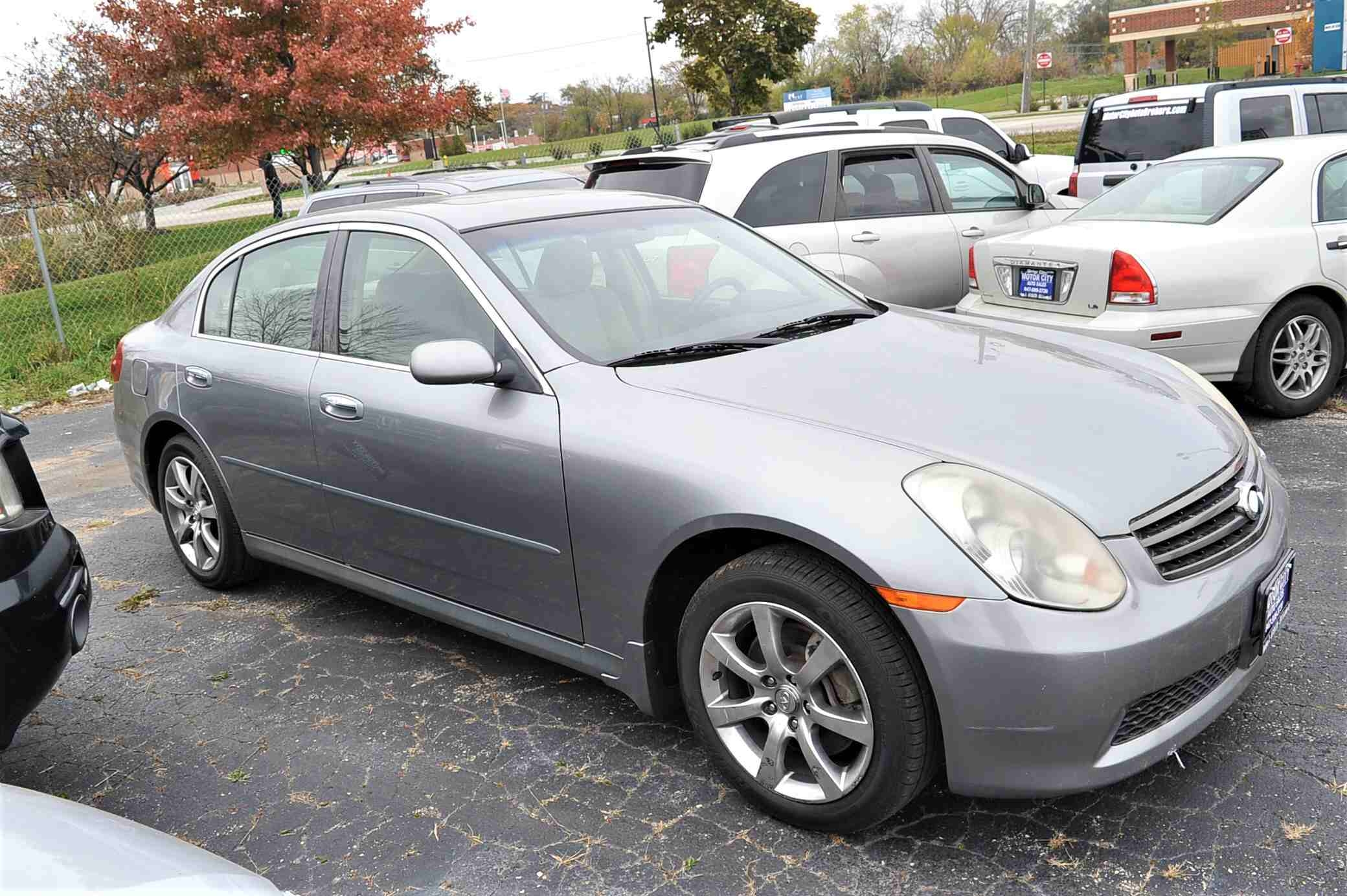 2006 Infiniti G35X Gray Sedan Used Car Sale Bannockburn Barrington Beach Park