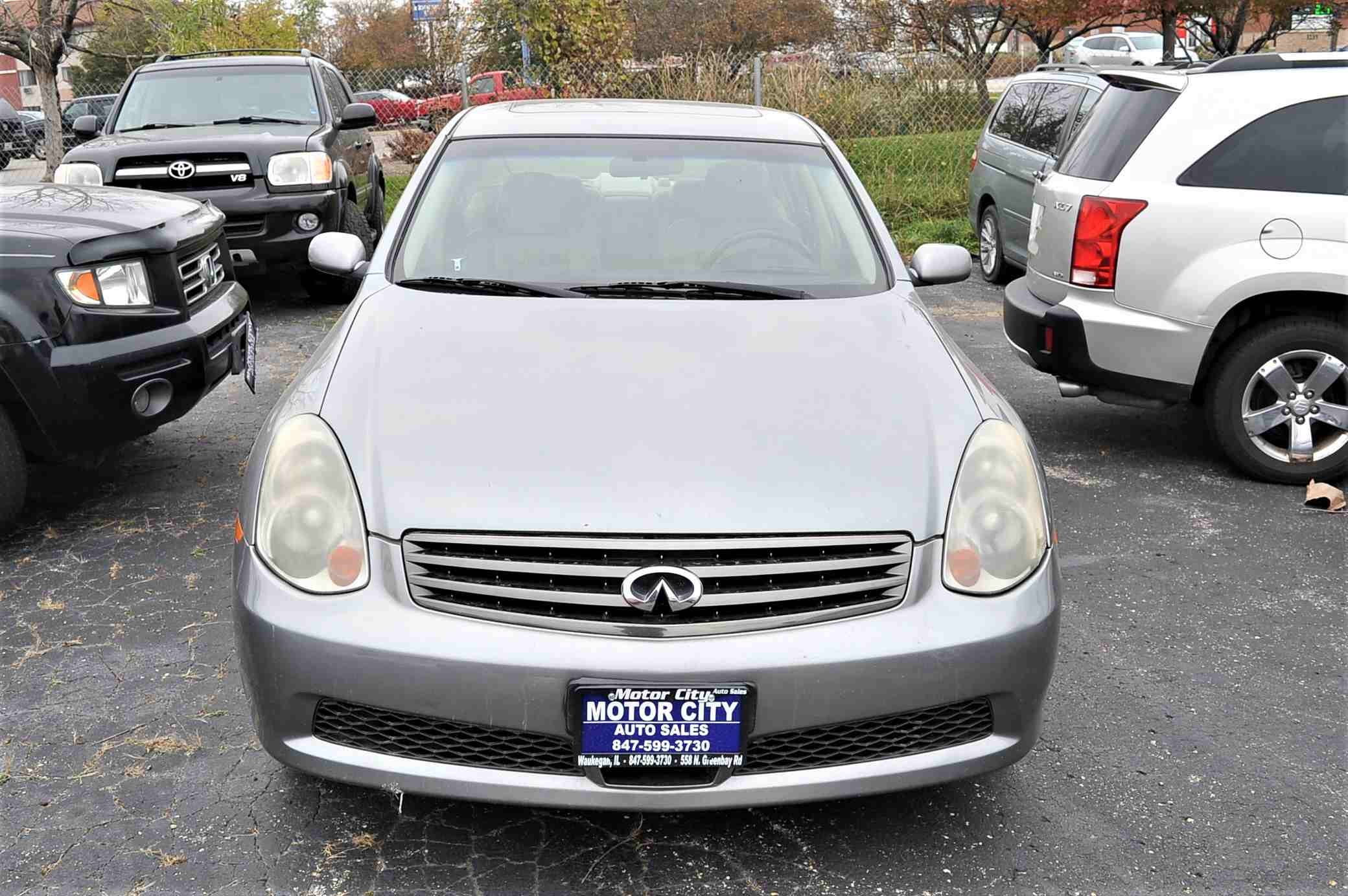 2006 Infiniti G35X Gray Sedan Used Car Sale Gurnee Kenosha Mchenry Chicago Illinois