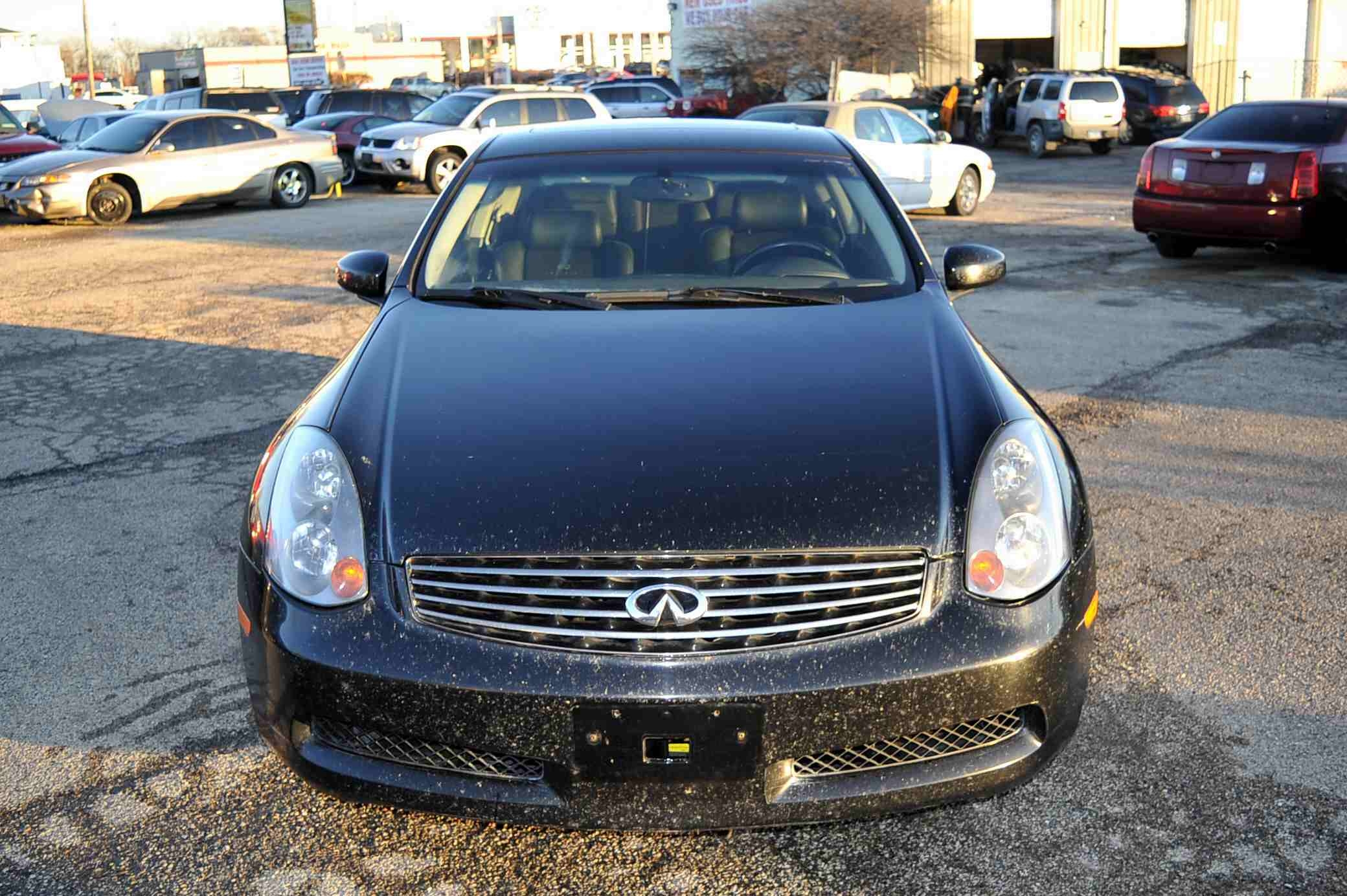 2005 Infiniti G35 Black Coupe Used Car Sale Gurnee Kenosha Mchenry Chicago Illinois