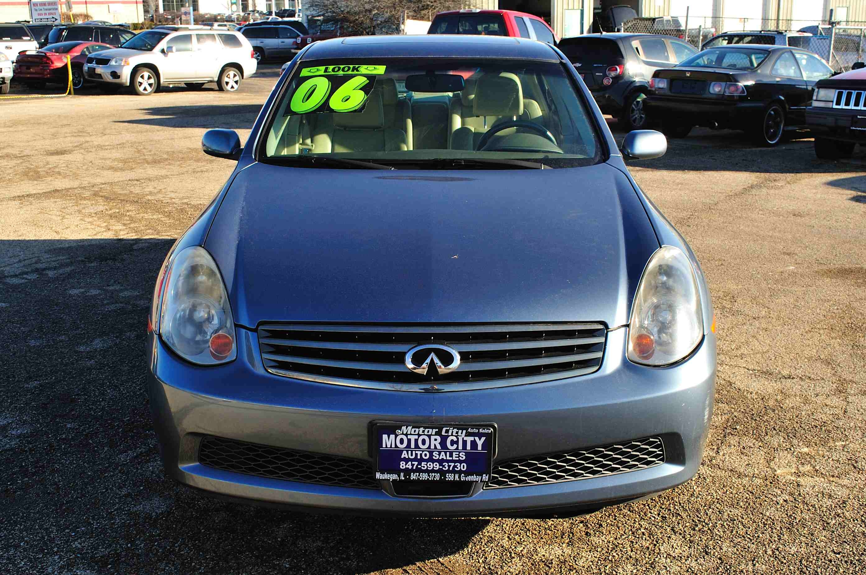 2006 Infiniti G35X Blue Sedan Used Car Sale Gurnee Kenosha Mchenry Chicago Illinois