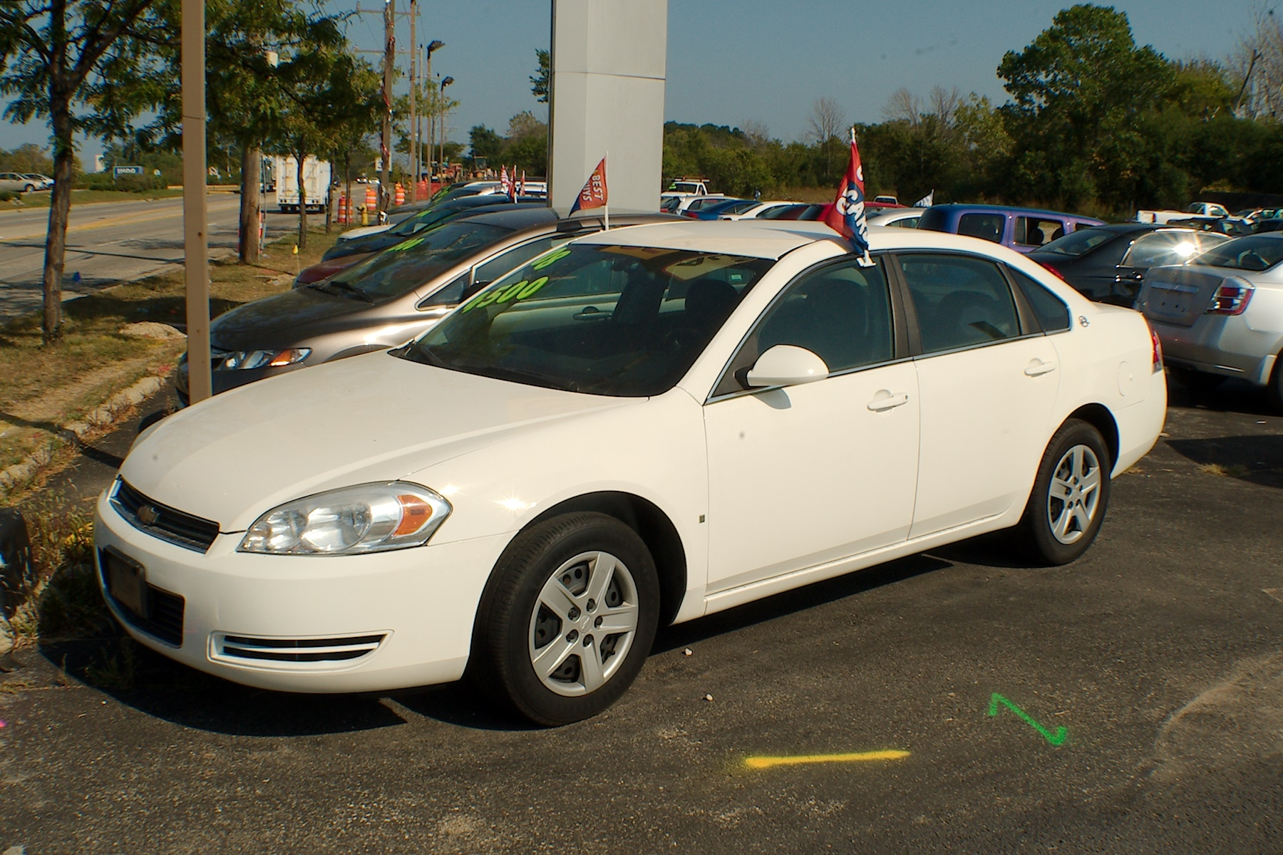 2008 Chevrolet Impala White Sedan Used Car Sale Antioch Zion Waukegan Lake County Illinois