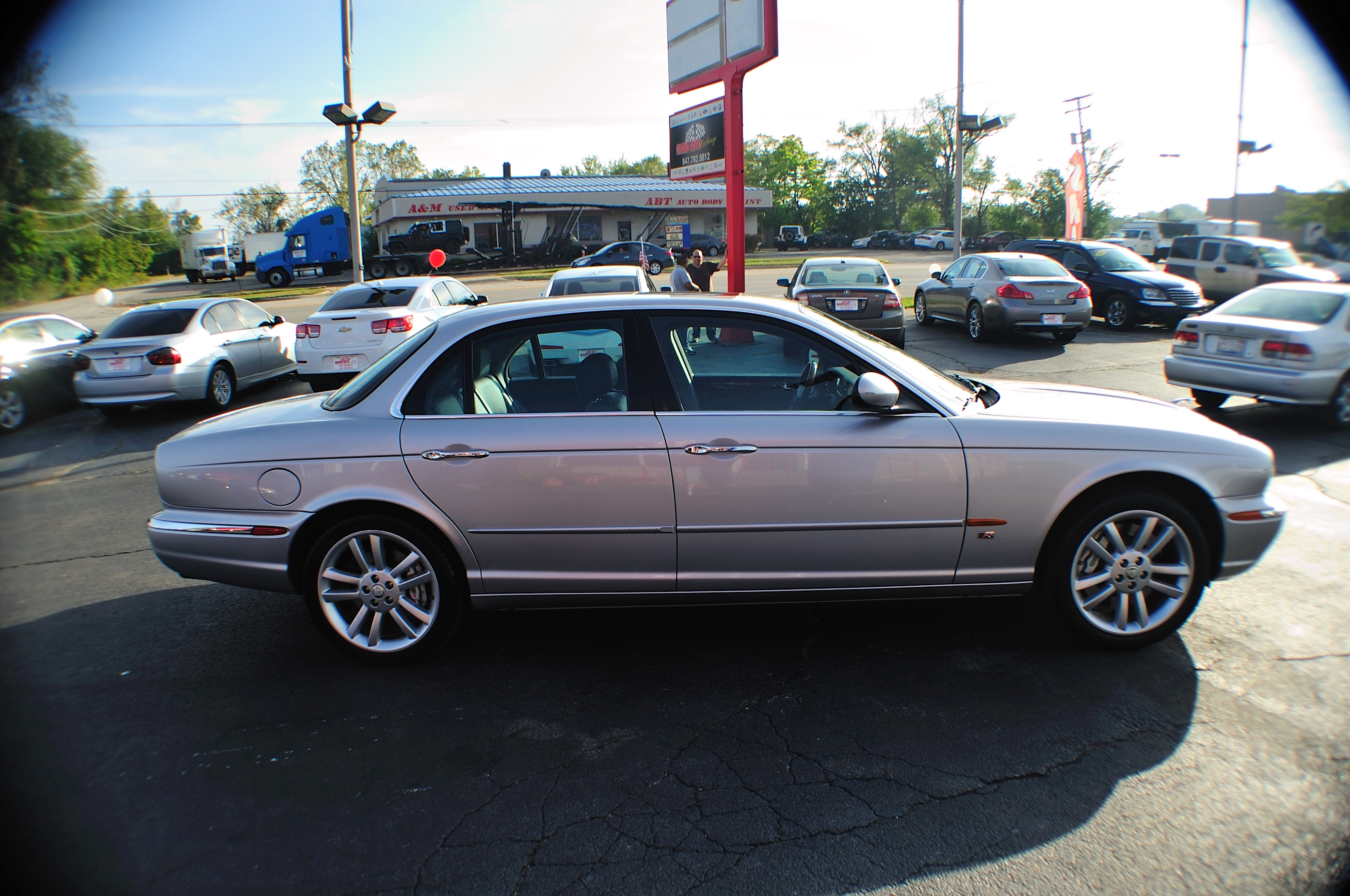 2005 Jaguar XJR Type Silver Sport Sedan Used Car Sale Bannockburn Barrington Beach Park