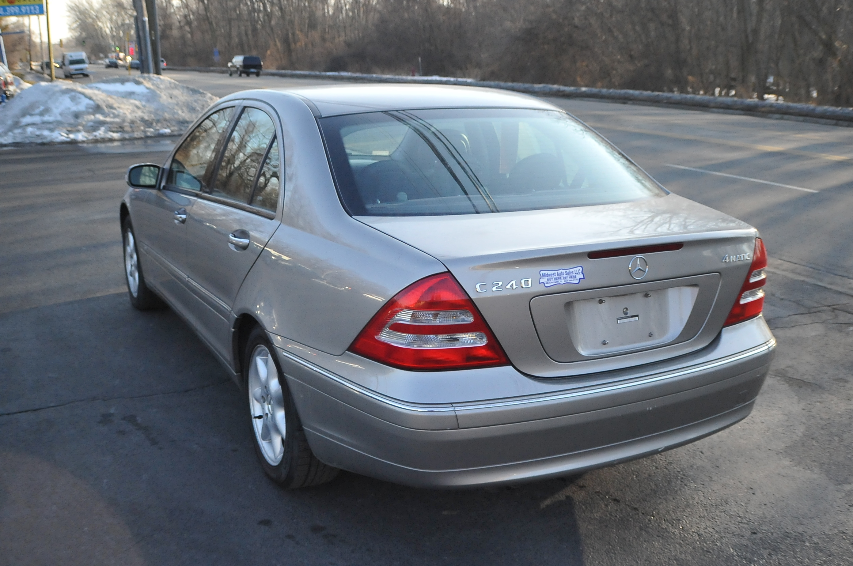 2004 Mercedes C240 4Matic Used Silver Sedan Sale Fox River Grove Grayslake Volo Green Oaks