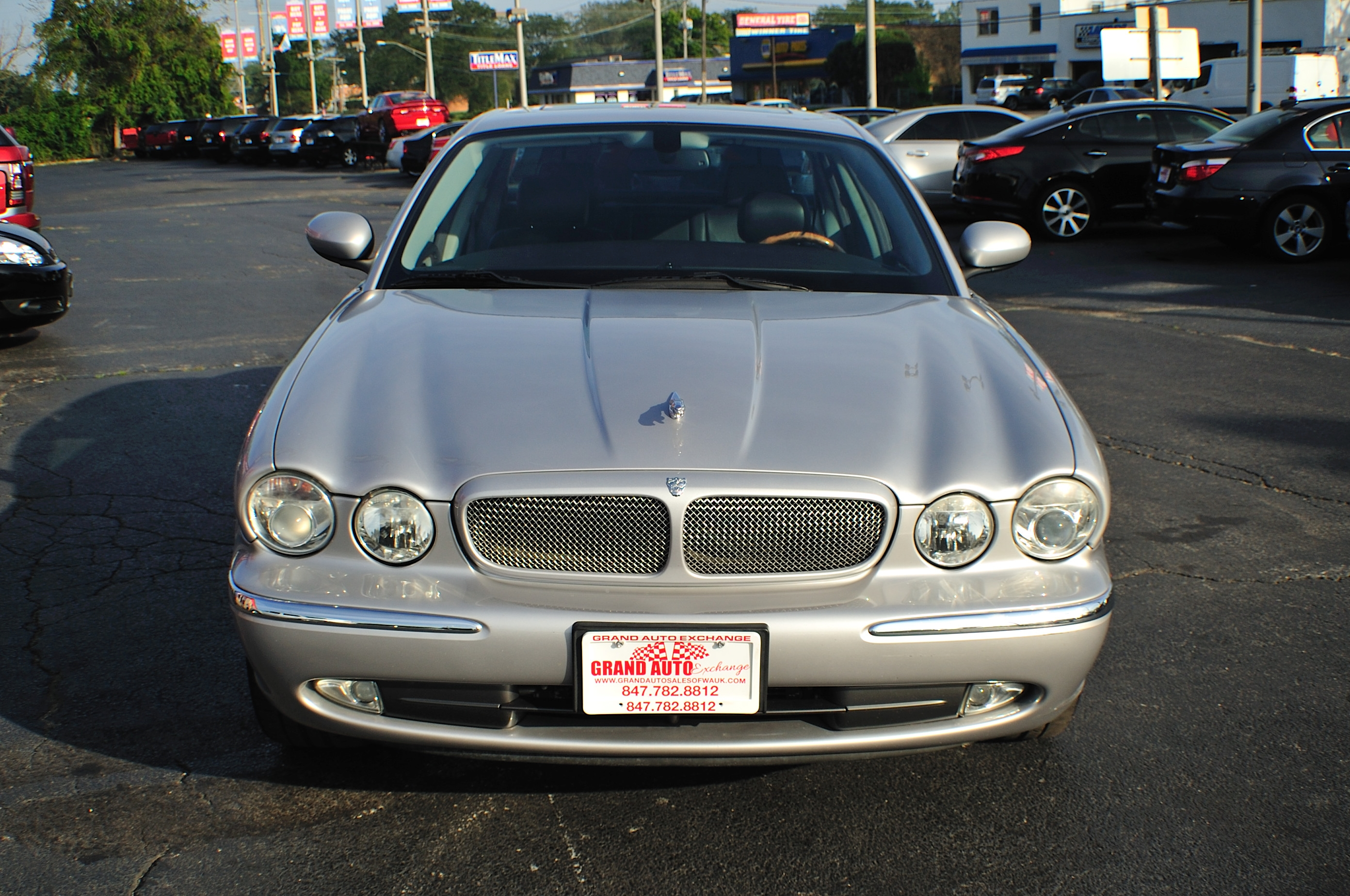 2005 Jaguar XJR Type Silver Sport Sedan Used Car Sale Gurnee Kenosha Mchenry