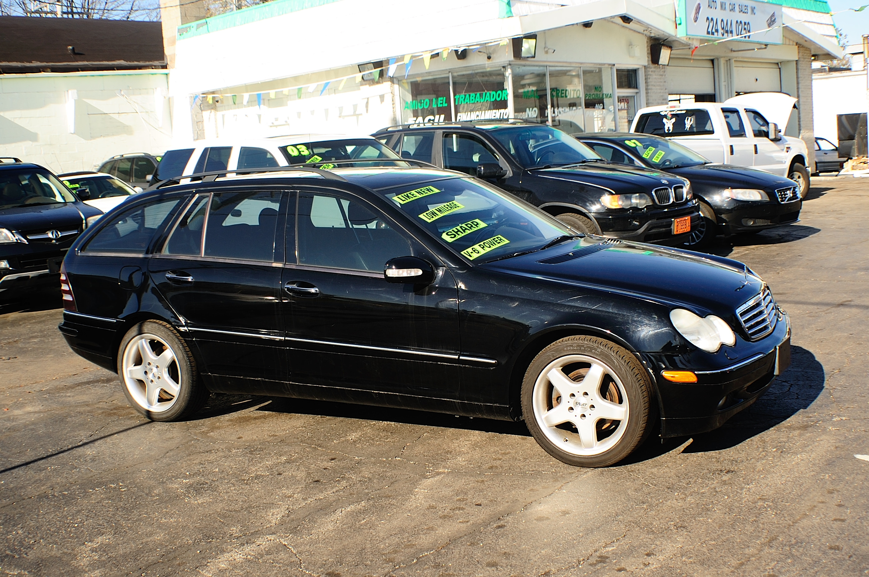 2002 Mercedes C320 Black 4Dr Wagon used car sale Antioch Zion Waukegan