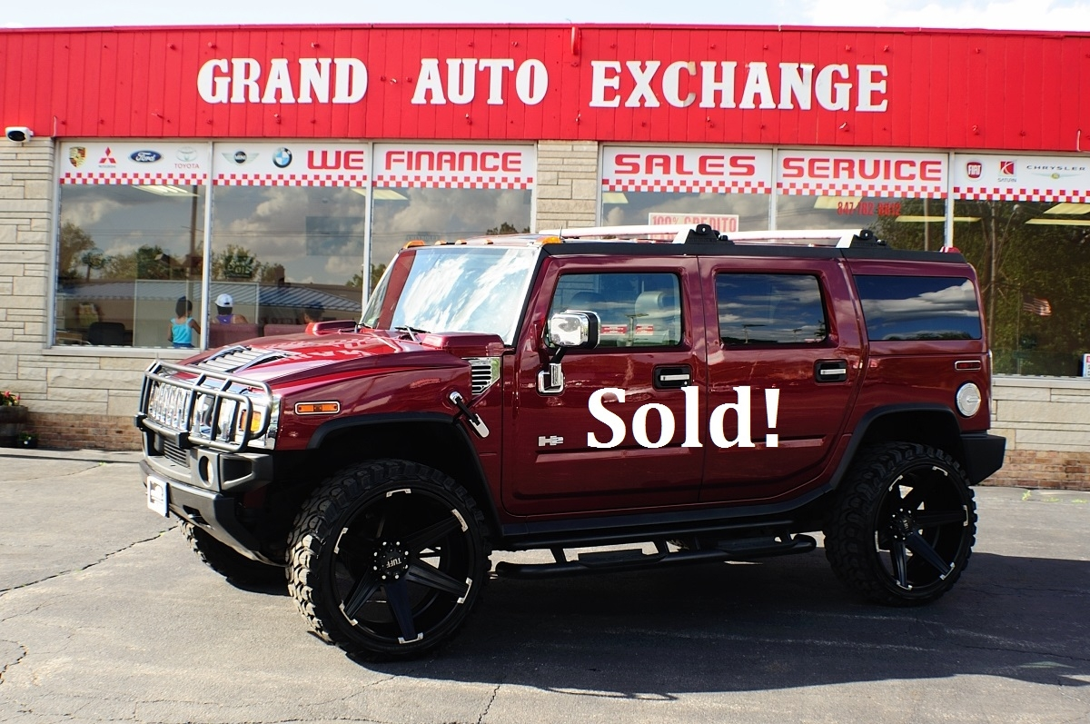 2003 Hummer H2 Adventure Maroon Used 4x4 Sale Antioch Zion Waukegan Lake County Illinois