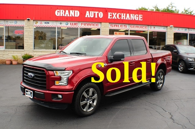 2015 Ford F150 XLT Red Used 4x4 Truck Sale Antioch Zion Waukegan Lake County Illinois