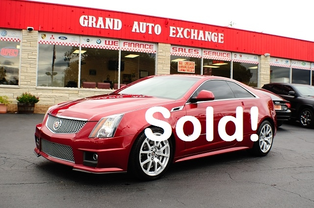 2011 Cadillac CTSV Red Supercharger Used Coupe Sale Antioch Zion Waukegan Lake County Illinois