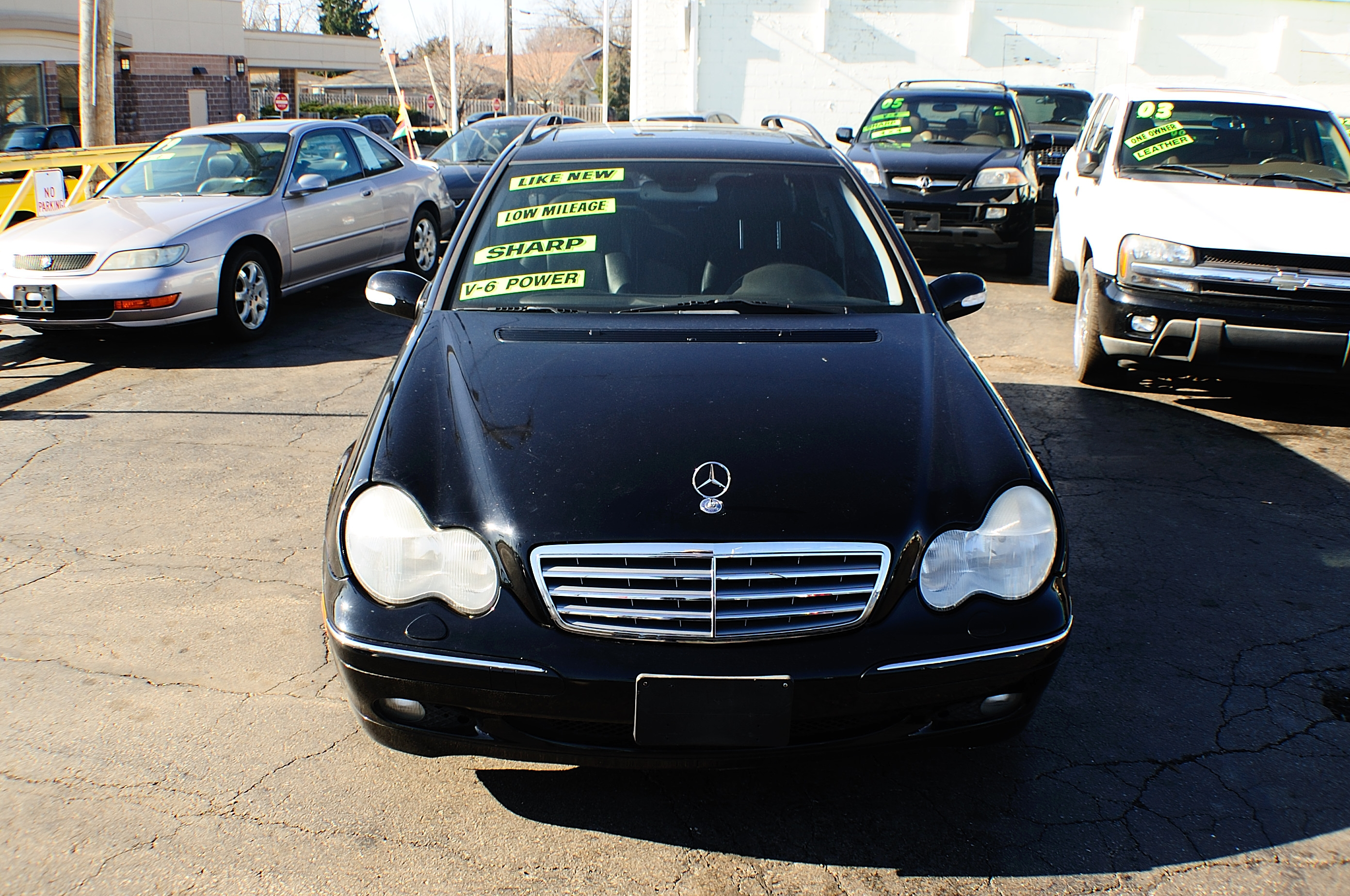 2002 Mercedes C320 Black 4Dr Wagon used car sale Gurnee Kenosha Mchenry Bannockburn