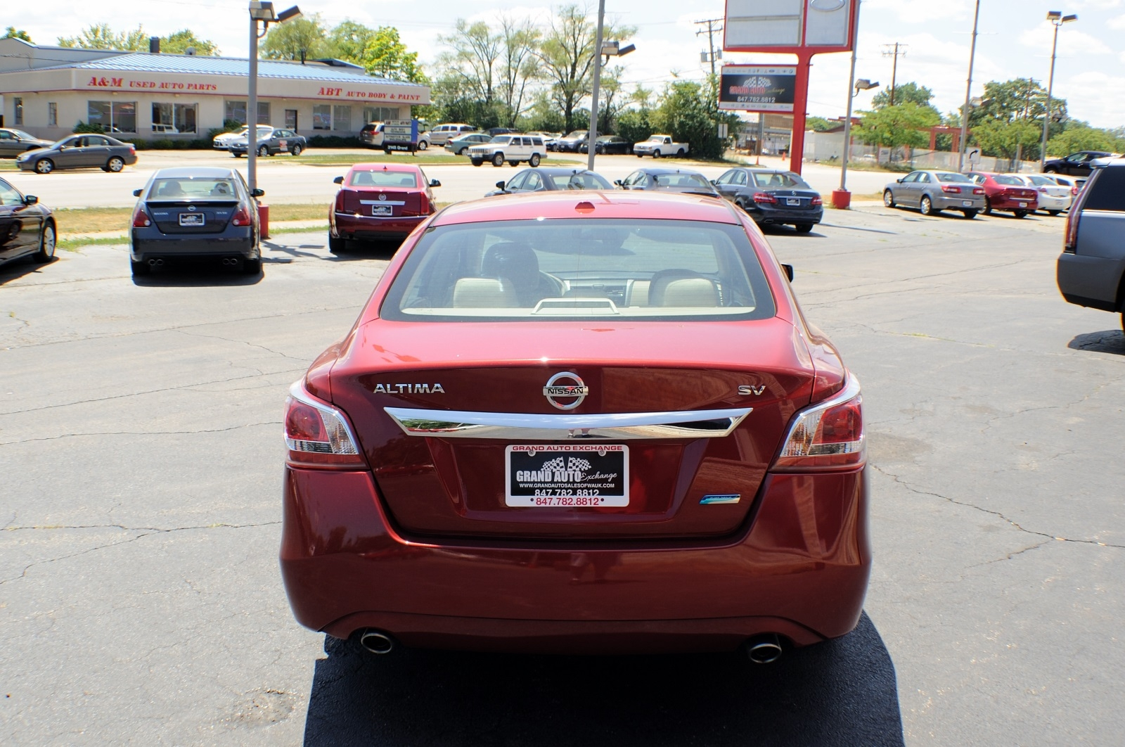 2013 Nissan Altima Red SV Sedan used car sale Buffalo Grove Deerfield Fox Lake