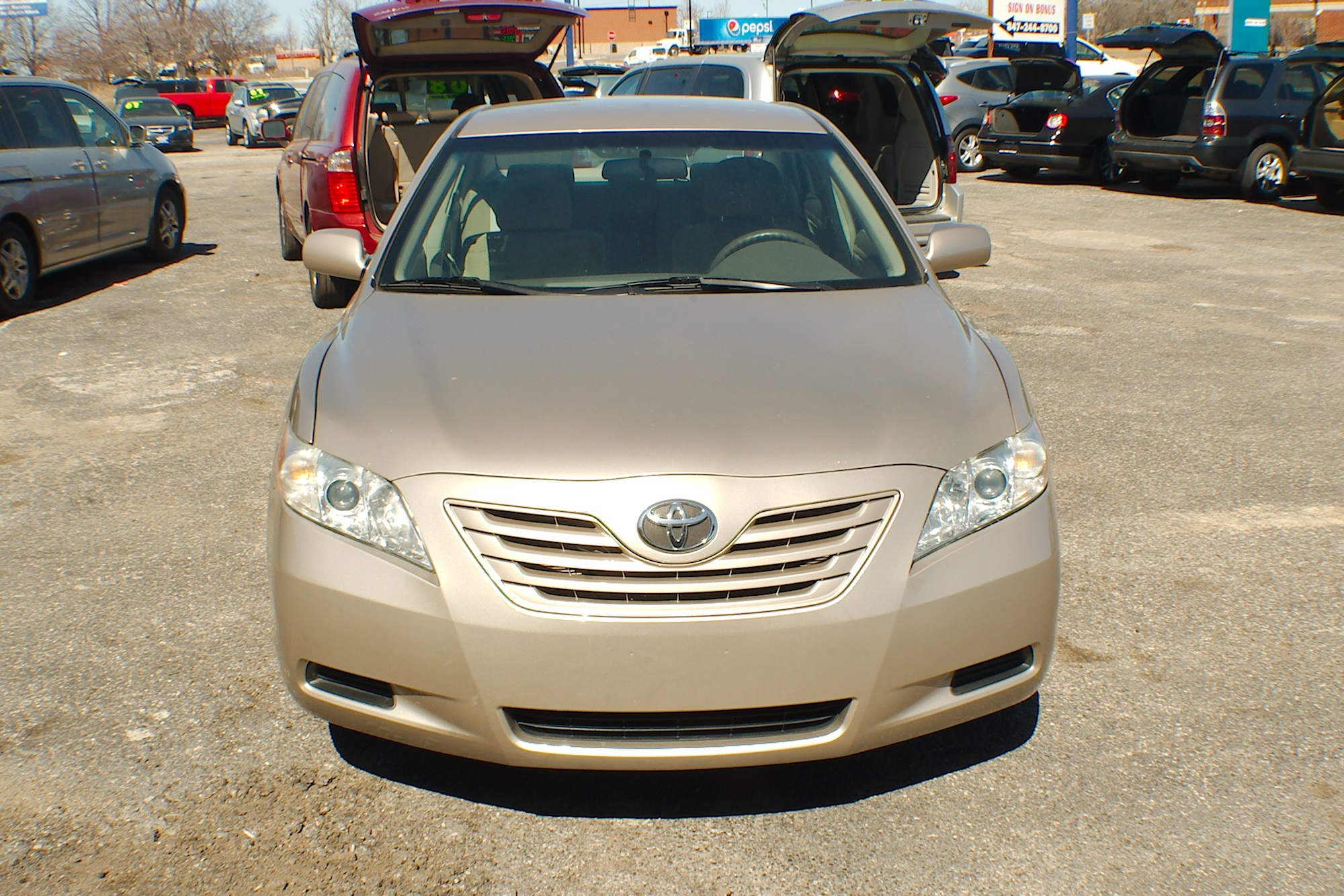 2007 Toyota Camry LE Beige Sedan Used Car Sale Gurnee Kenosha Mchenry Chicago Illinois