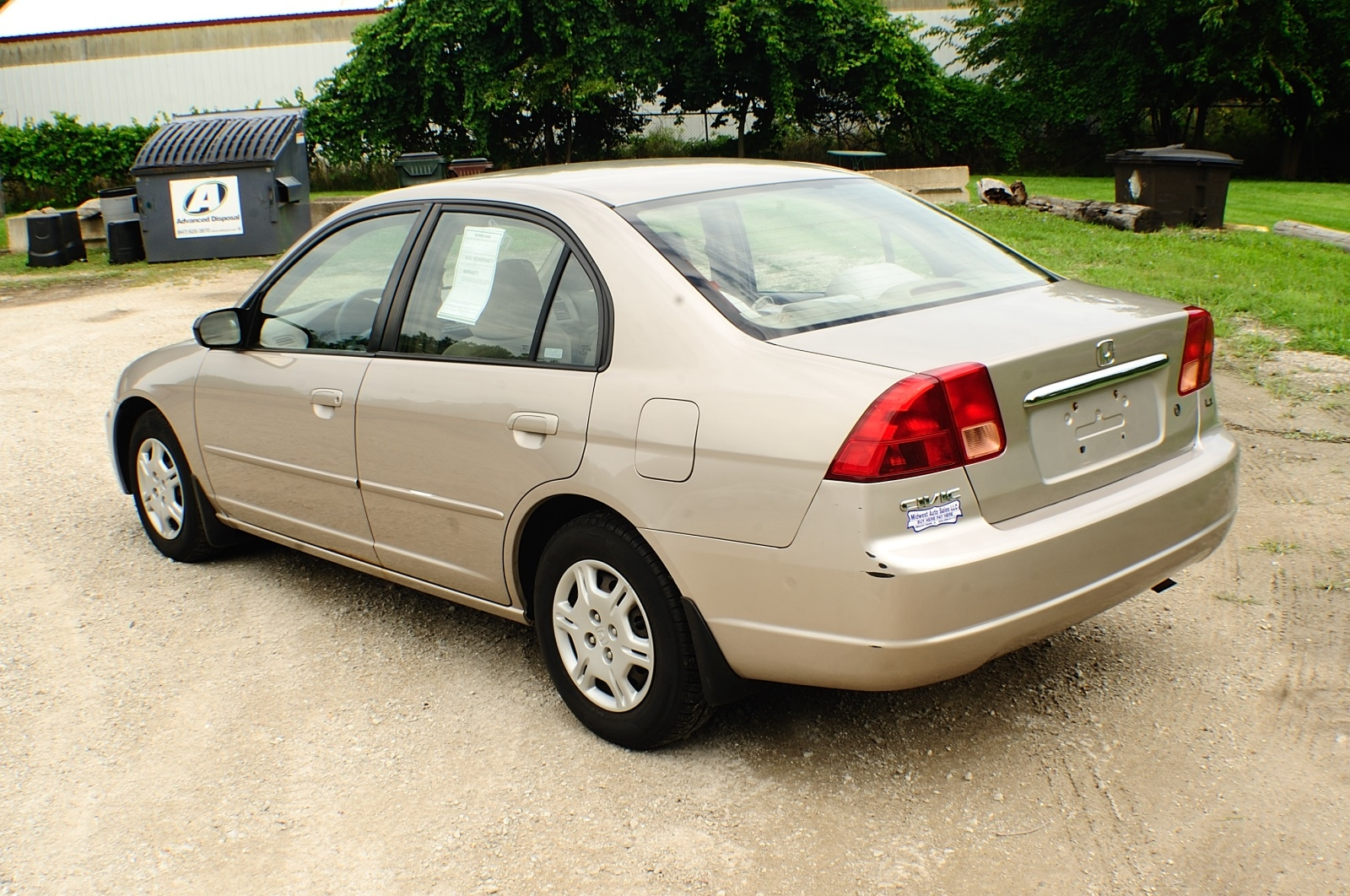 2002 Honda Civic LX Tan Sedan Used Car Sale Fox River Grove Grayslake Volo Waucanda