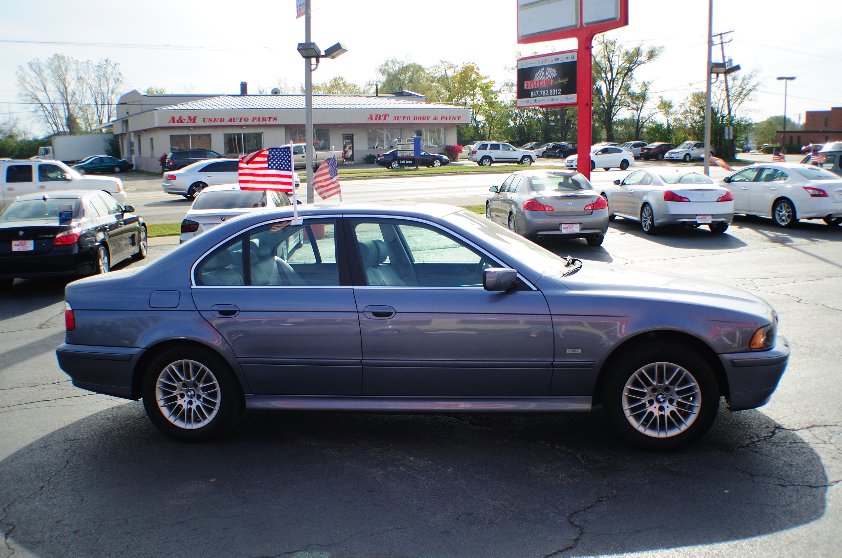 2003 BMW 530i Blue Used Sport Sedan Sale Bannockburn Barrington Beach Park