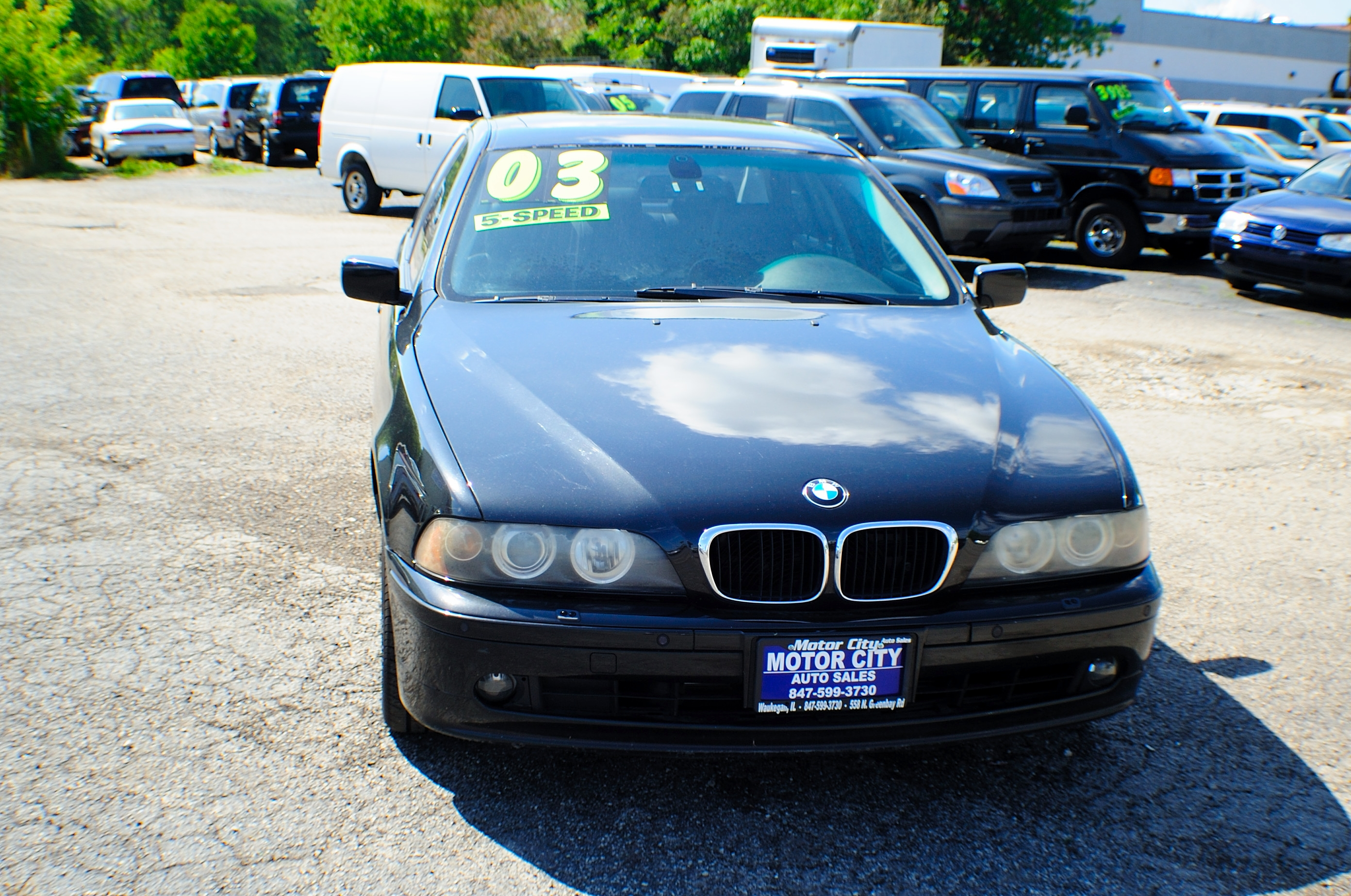 2003 BMW 530i 5 Series Black M5 Manual Sedan Used Car Sale Lindenhurst Gurnee