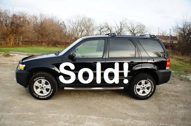 2005 Ford Escape XLT 4x4 Black used SUV Sale Antioch Zion Waukegan