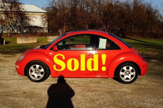 2006 Volkswagen Beetle Orange Hatchback Used Coupe Sale Antioch Zion Waukegan Lake County Illinois