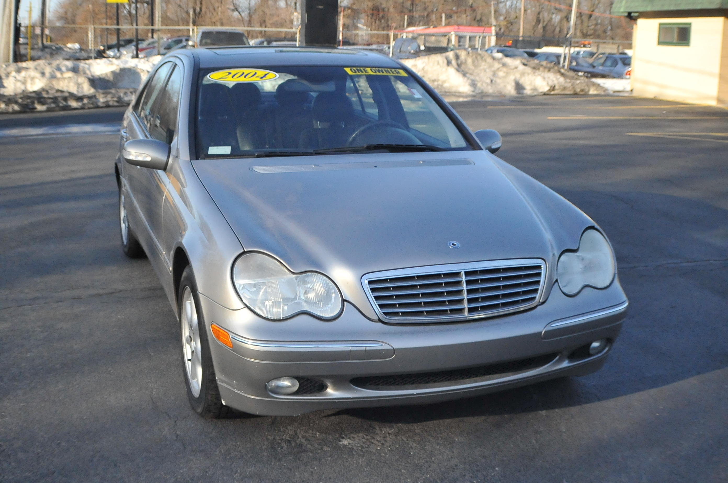 2004 Mercedes C240 4Matic Used Silver Sedan Sale Beach Park Buffalo Grove Deerfield Fox Lake