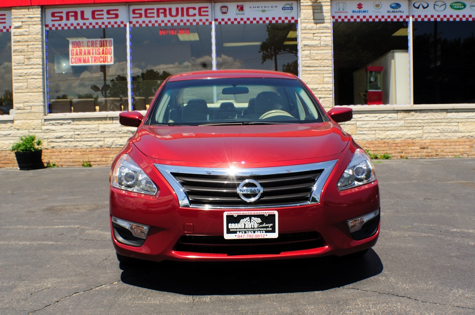 2013 Nissan Altima Red SV Sedan used car sale Gurnee Kenosha Mchenry Chicago Illinois