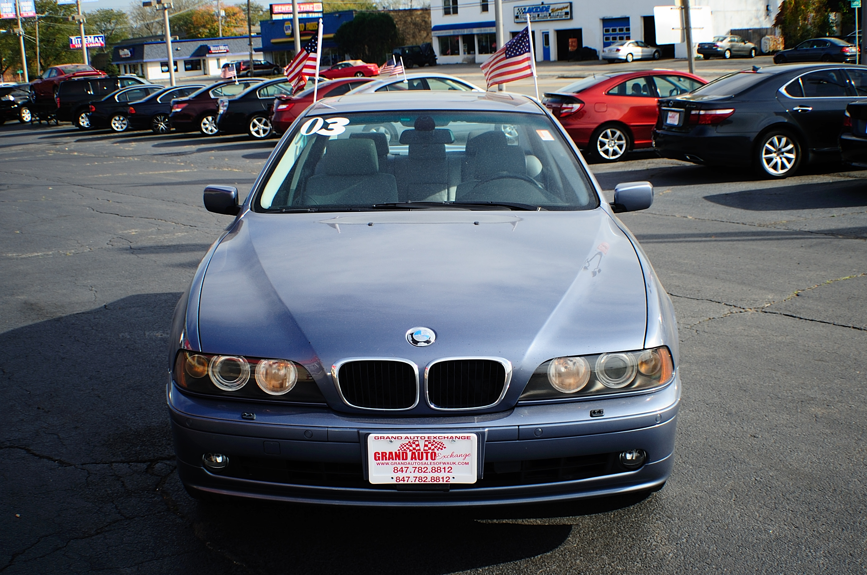 2003 BMW 530i Blue Used Sport Sedan Sale Gurnee Kenosha Mchenry