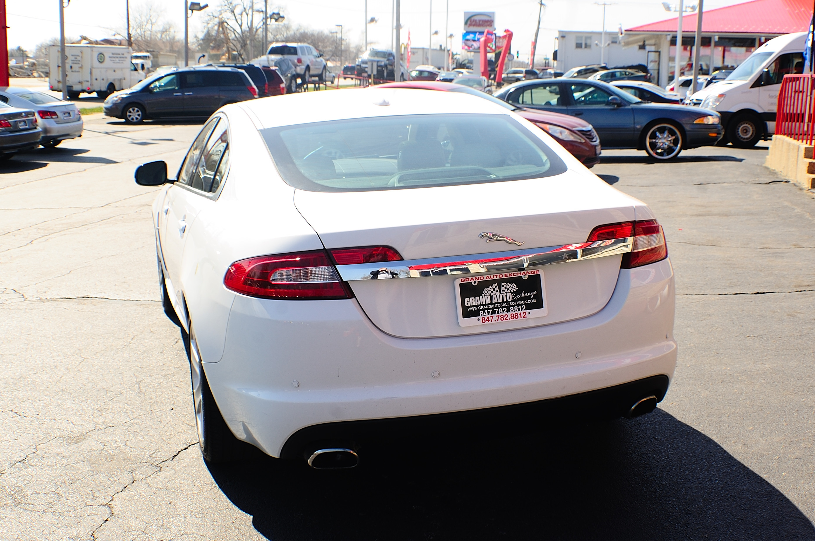 2011 Jaguar XF White sedan Used Car Sale Buffalo Grove Deerfield Fox Lake
