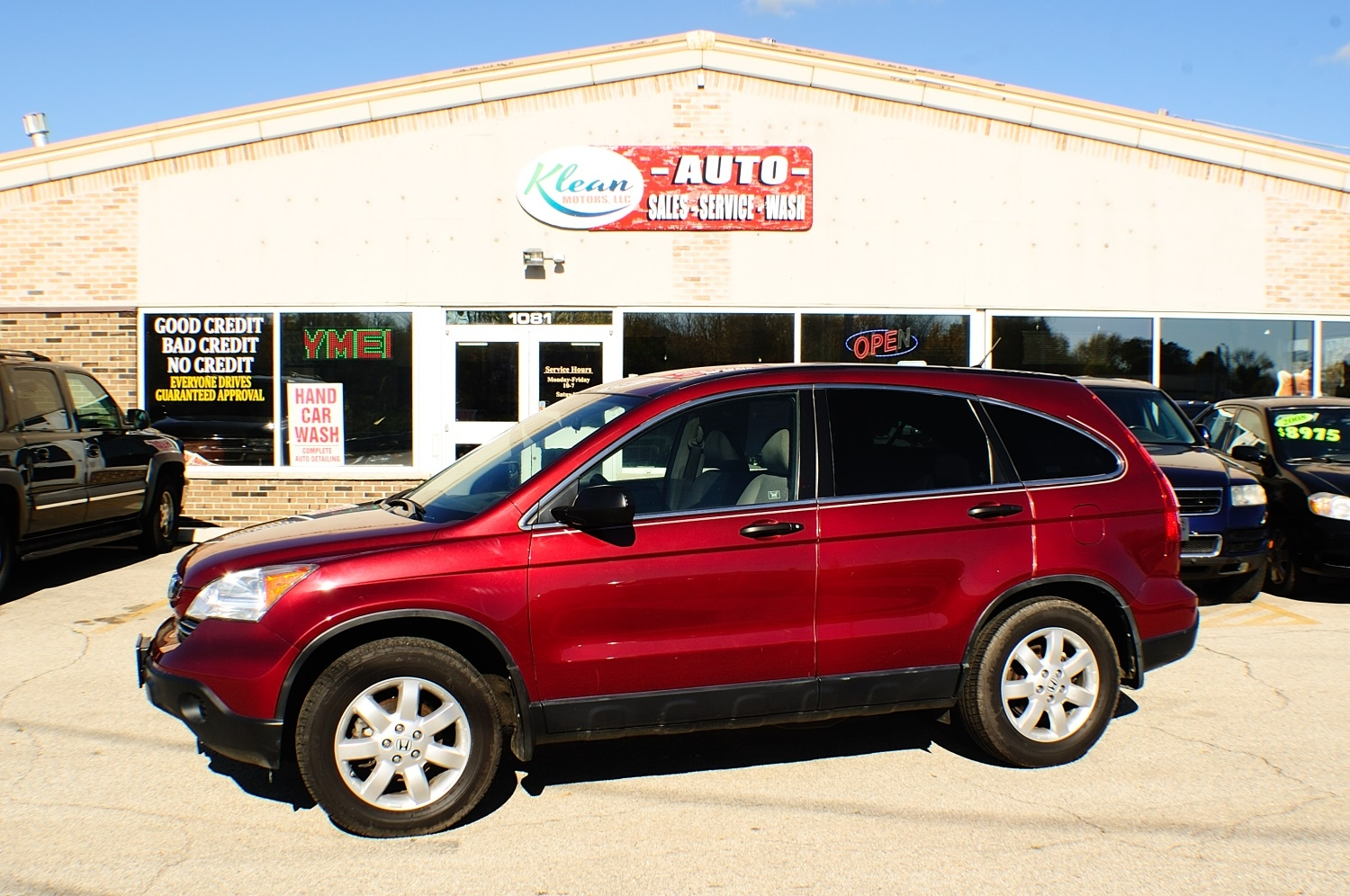2008 Honda CRV Red Used 4x2 SUV Sale Antioch Zion Waukegan Lake County Illinois