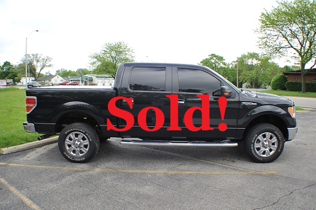 2010 Ford F150 Black 4x4 Super Crew Cab Pickup Truck Sale Waukegan