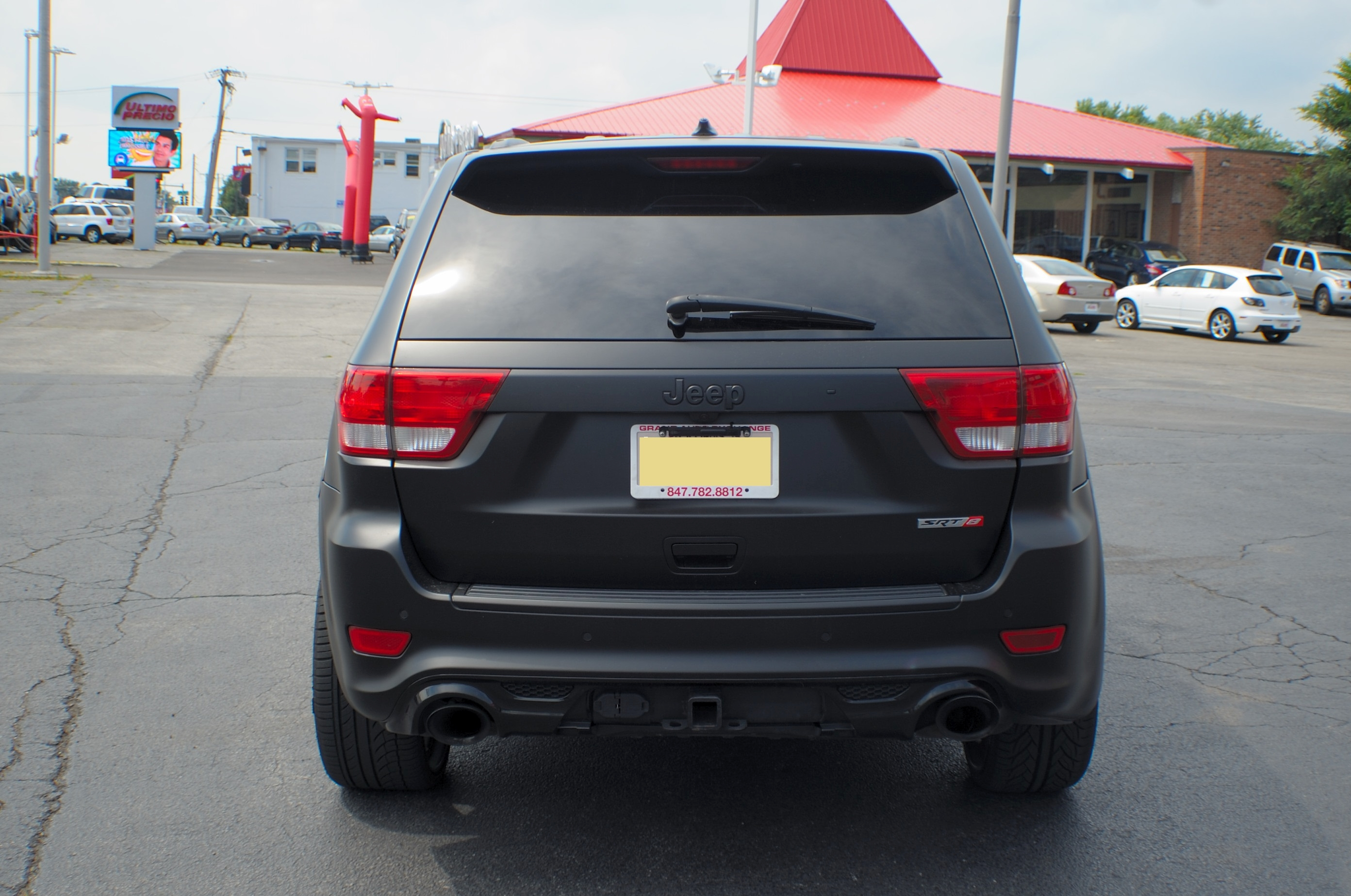2012 Jeep Grand Cherokee Flat Black SRT8 Navigation Used SUV Sale Mchenry Wadsworth