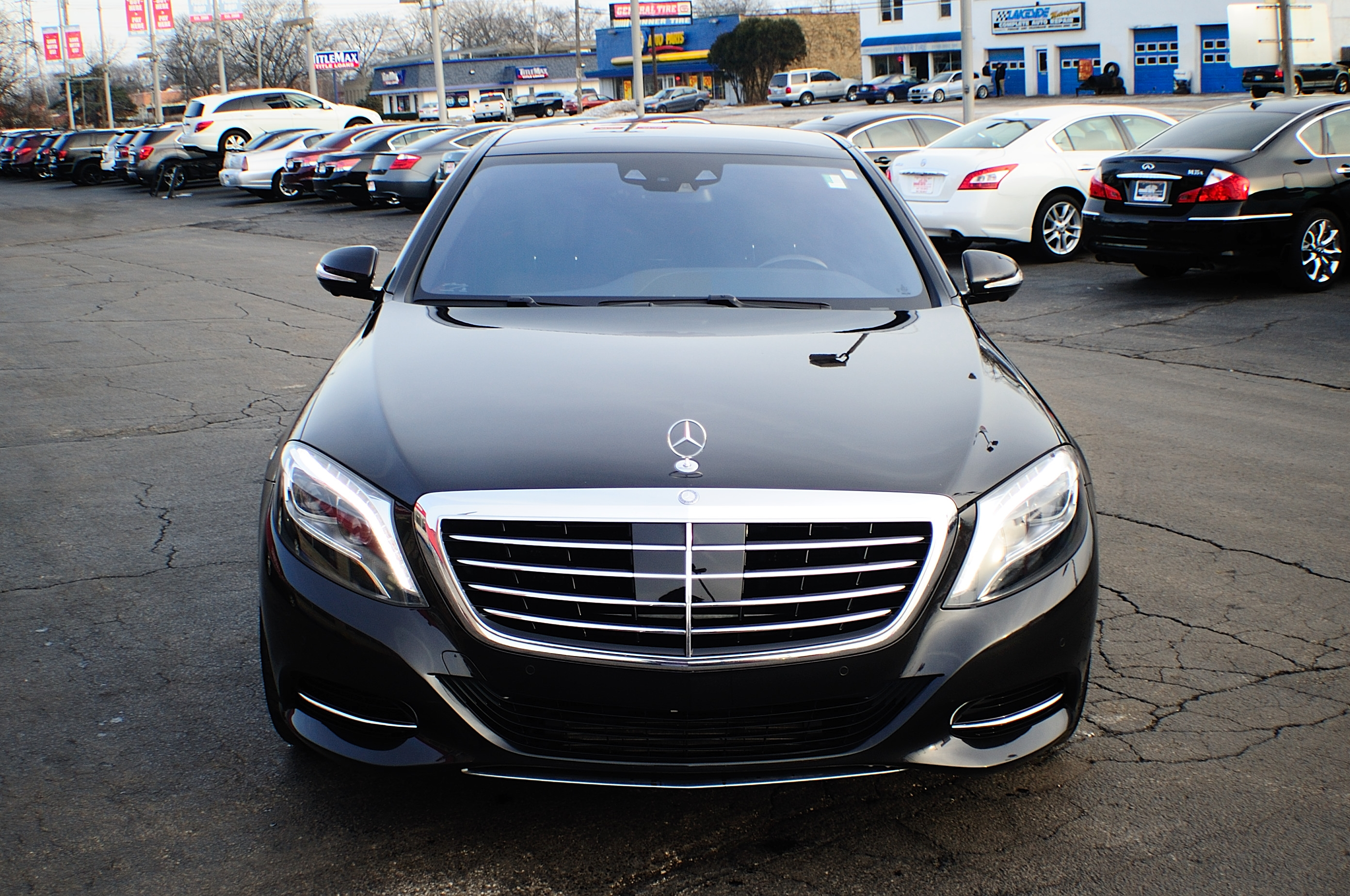2014 Mercedes Benz S550 Black Used Sedan Sale Gurnee Kenosha Mchenry