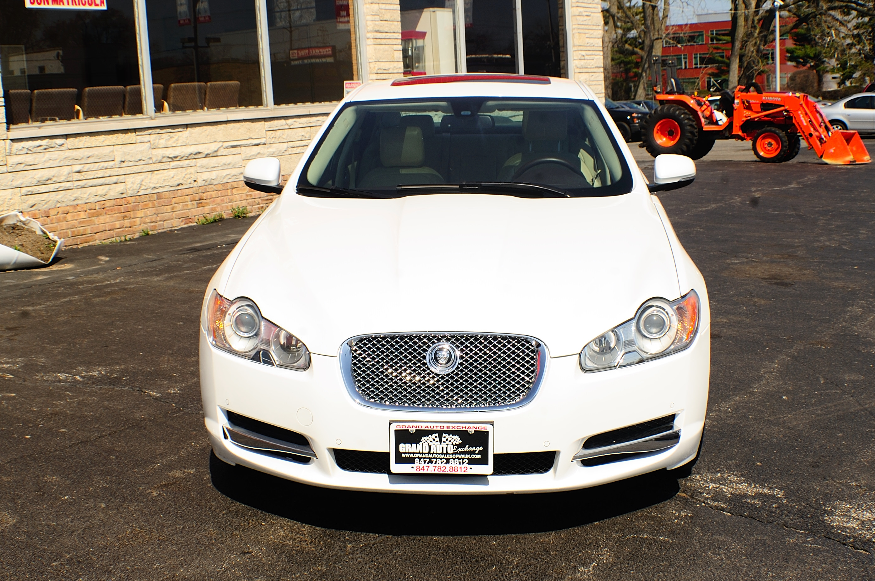 2011 Jaguar XF White sedan Used Car Sale Gurnee Kenosha Mchenry