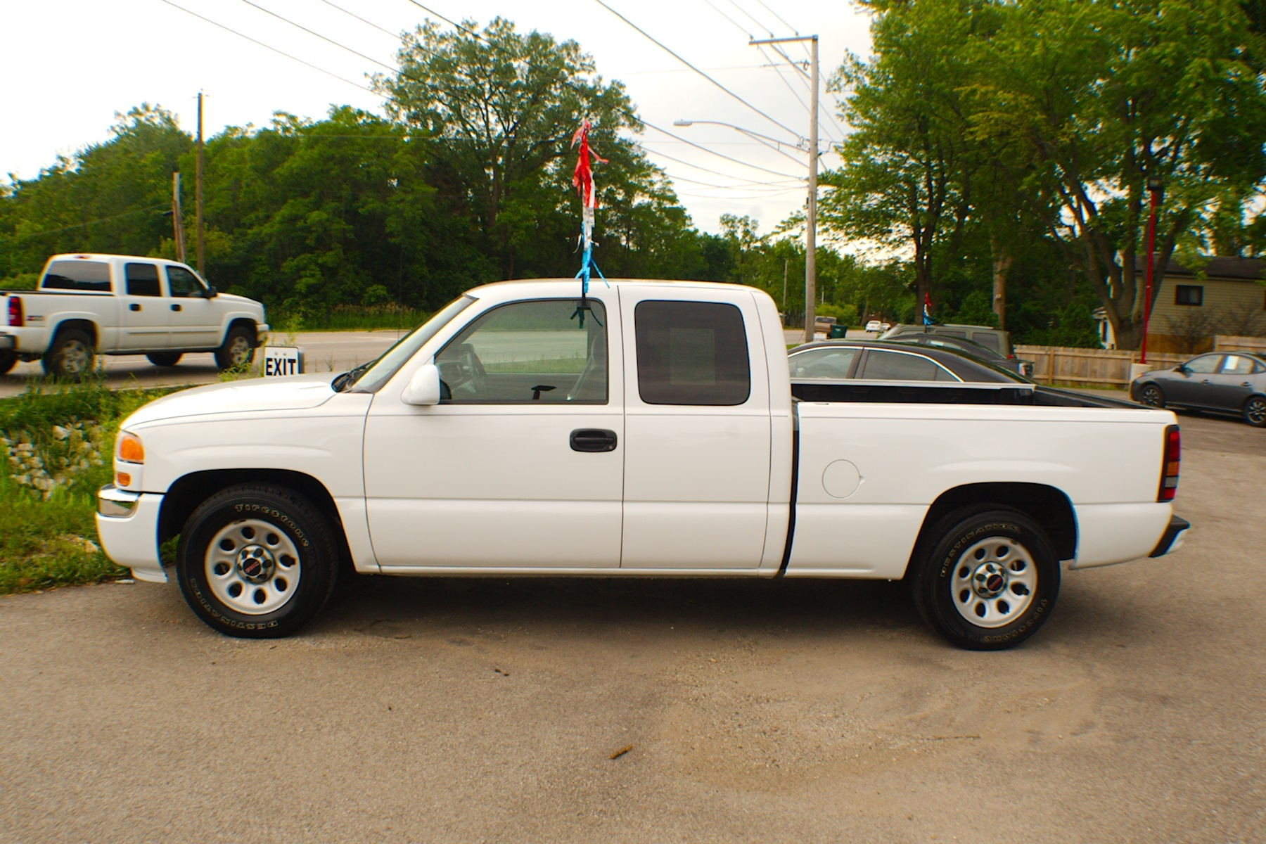 2007 GMC Sierra White Used 4x2 Ext Cab Used Truck Sale Antioch Zion Waukegan Lake County Illinois